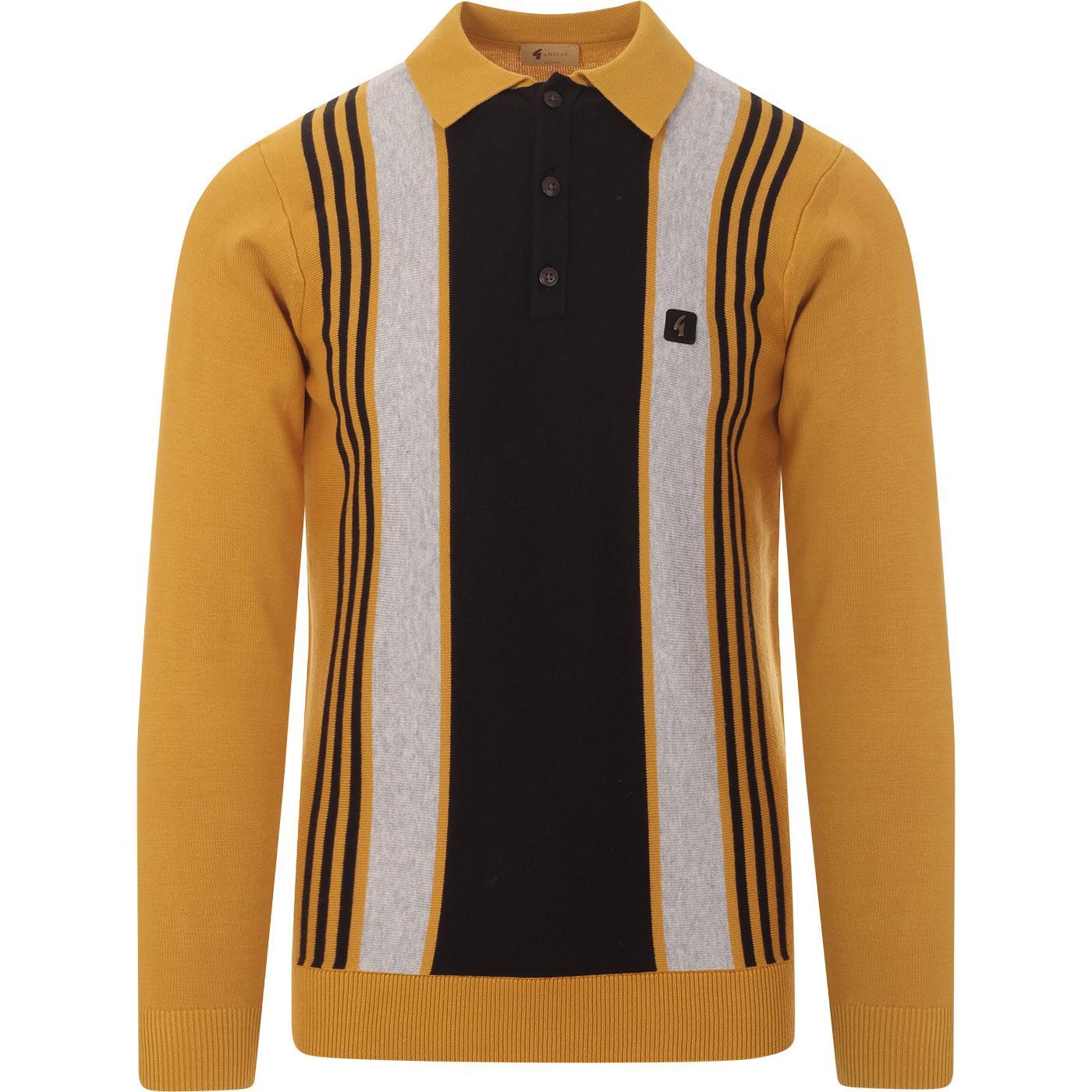 Searle GABICCI VINTAGE 60s Mod Knit Polo in Dijon