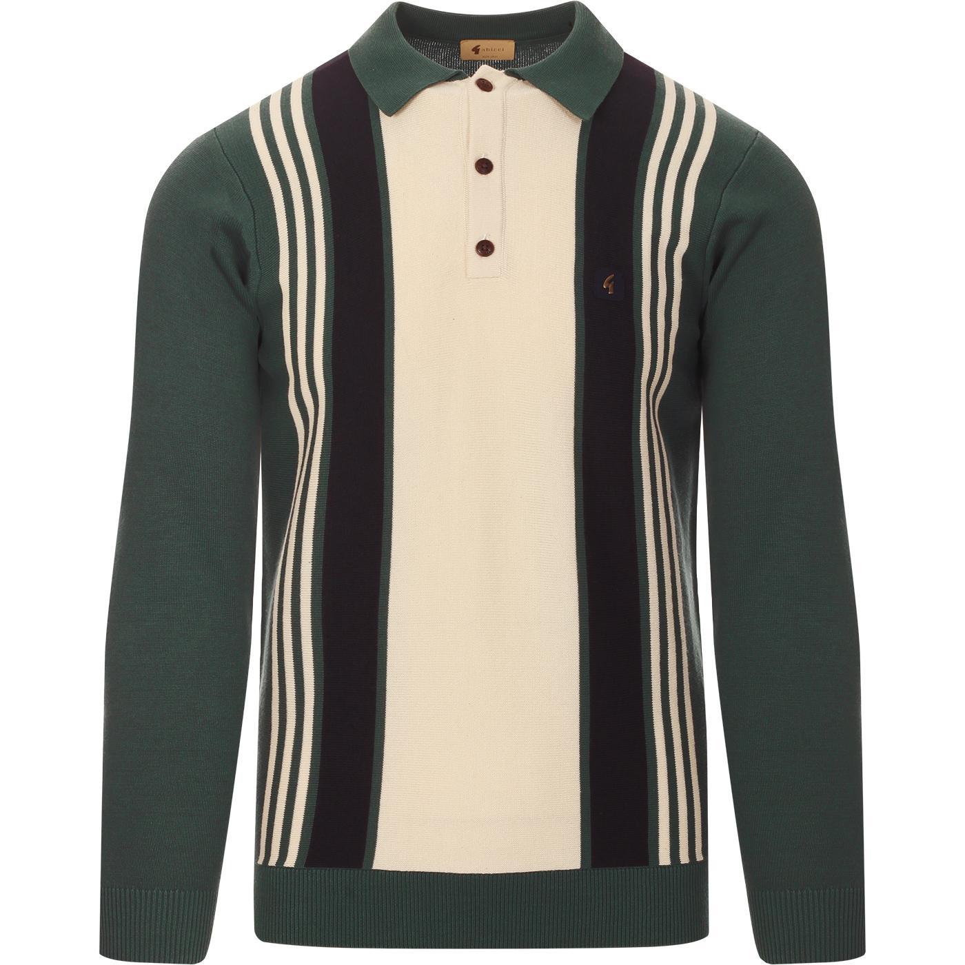 Searle GABICCI VINTAGE 60s Mod Knit Polo -Juniper