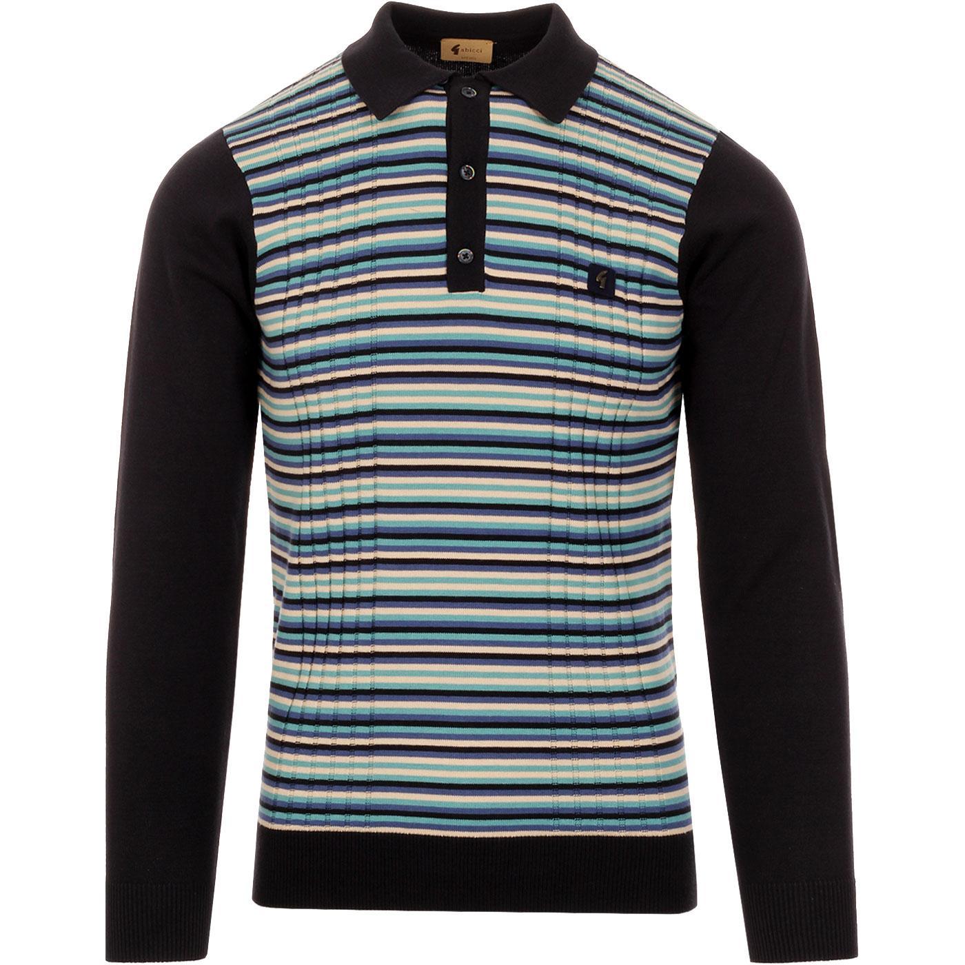 Stratus GABICCI VINTAGE Texture Stripe Mod Polo