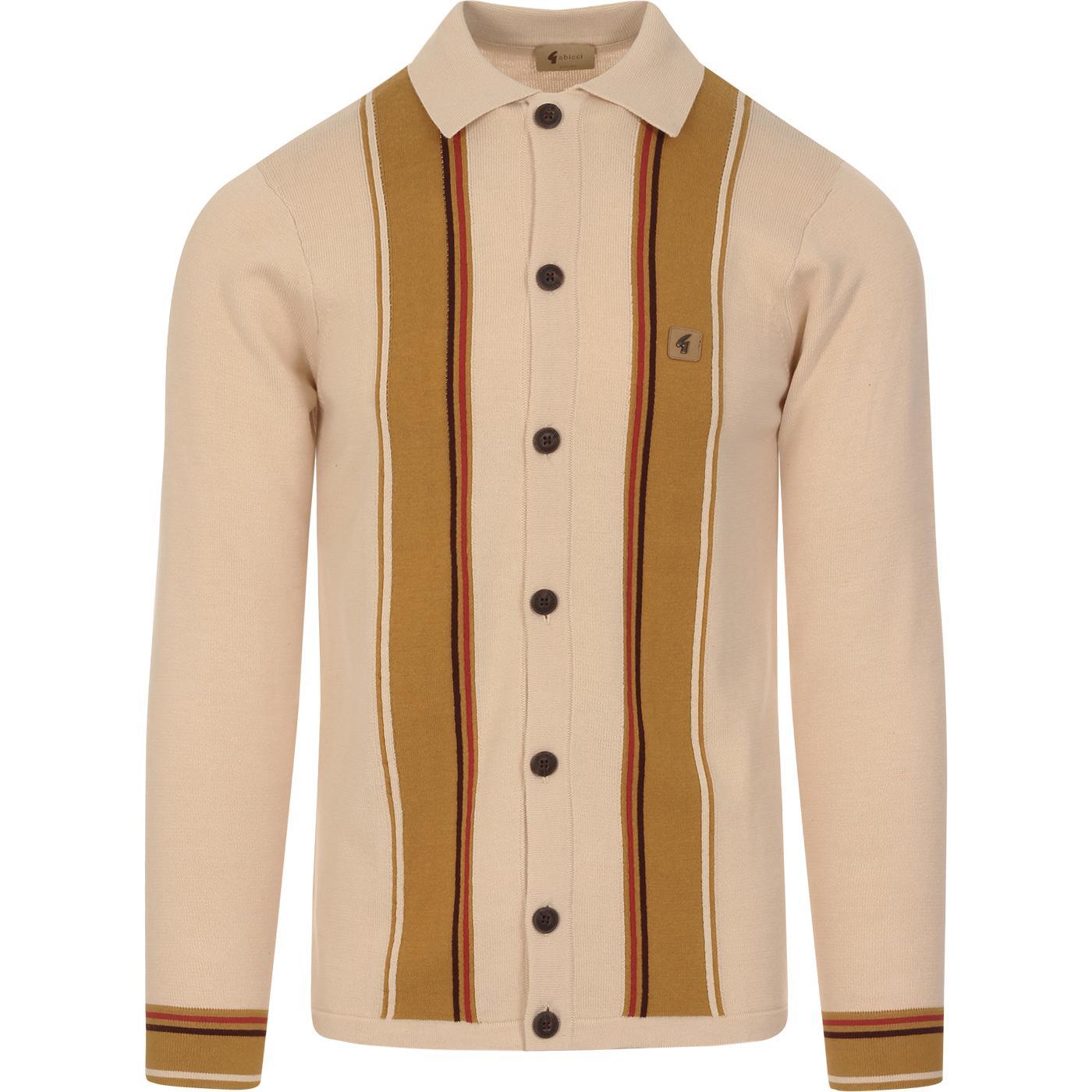 Tiller GABICCI VINTAGE Mod Stripe Polo Cardigan O
