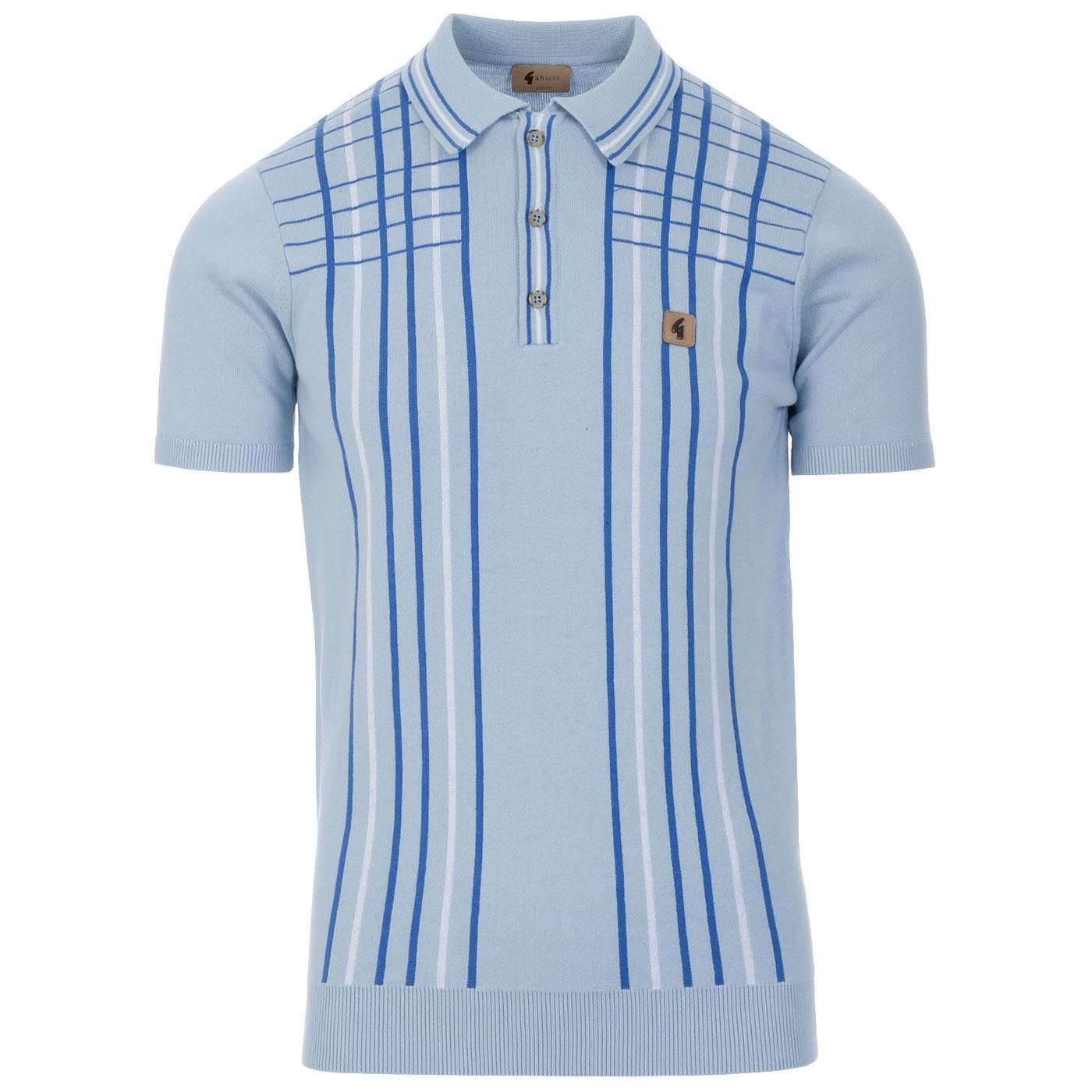 Bale GABICCI VINTAGE Check Stripe Knit Polo (Ice)