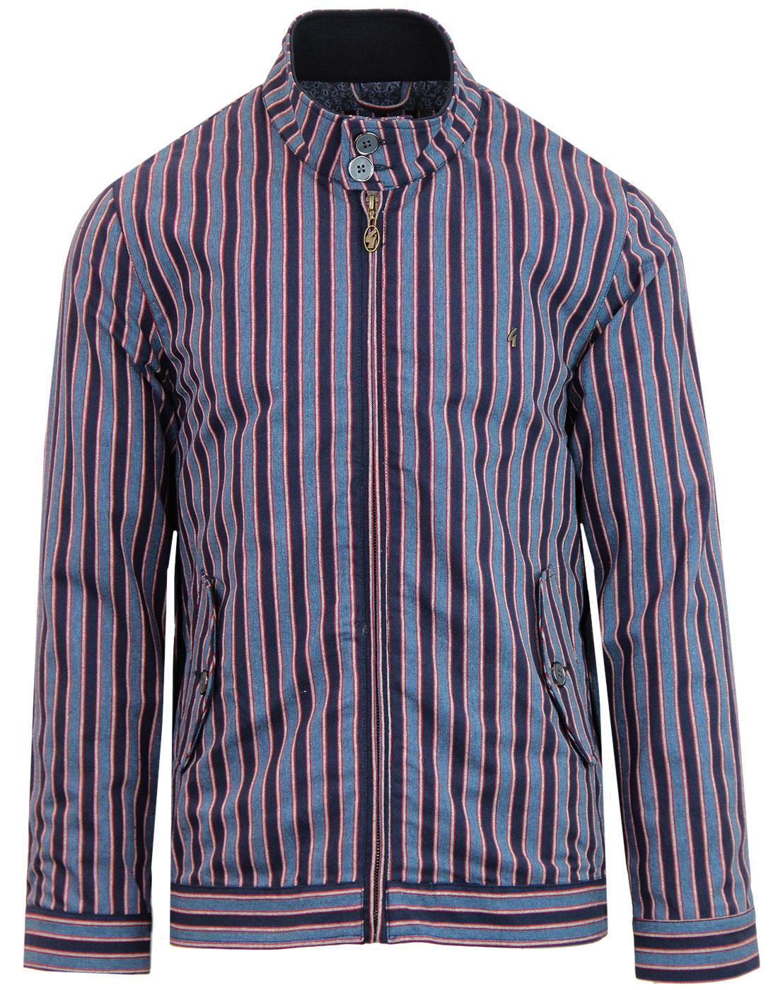 Leon GABICCI VINTAGE Mod Boating Stripe Harrington