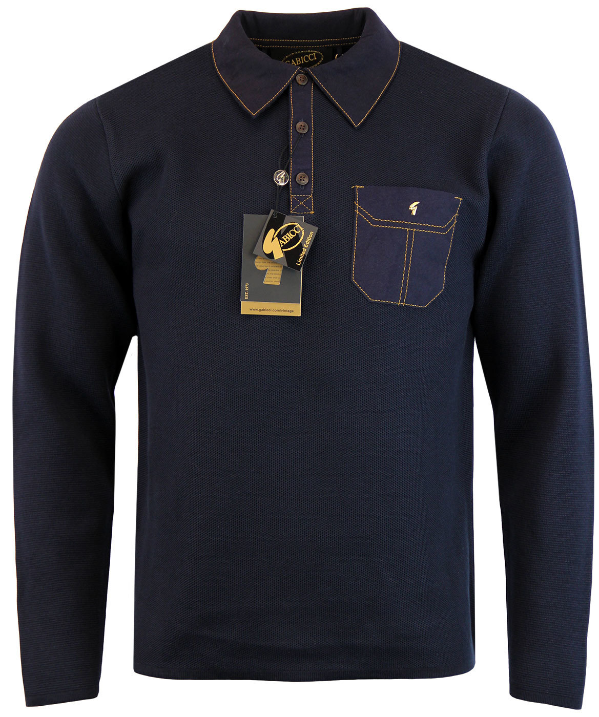 GABICCI VNTAGE Retro Mod Ltd Edition Knitted Polo