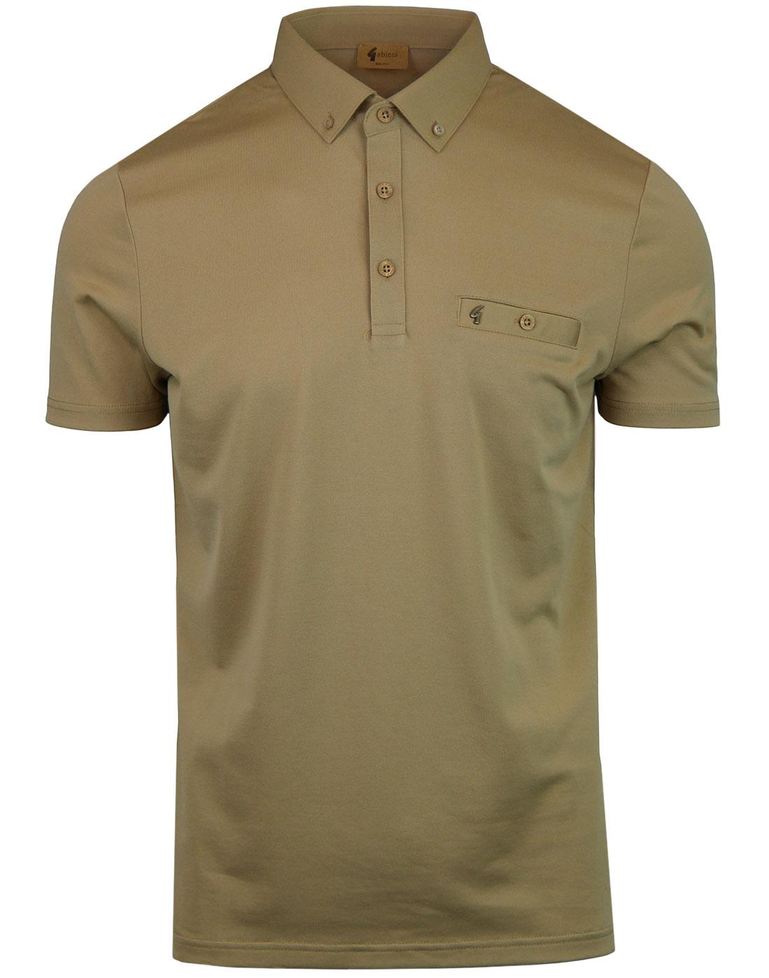 Ladro GABICCI VINTAGE Retro Button Down Polo FAWN