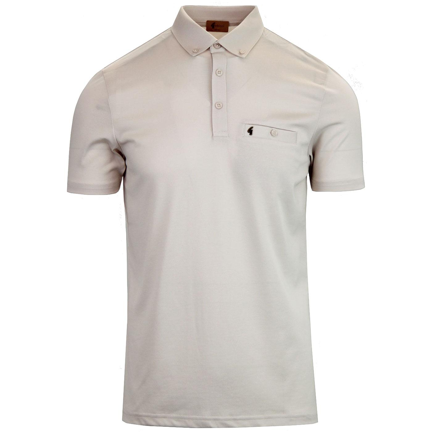 Ladro GABICCI VINTAGE Mod Button Down Polo (Oat)