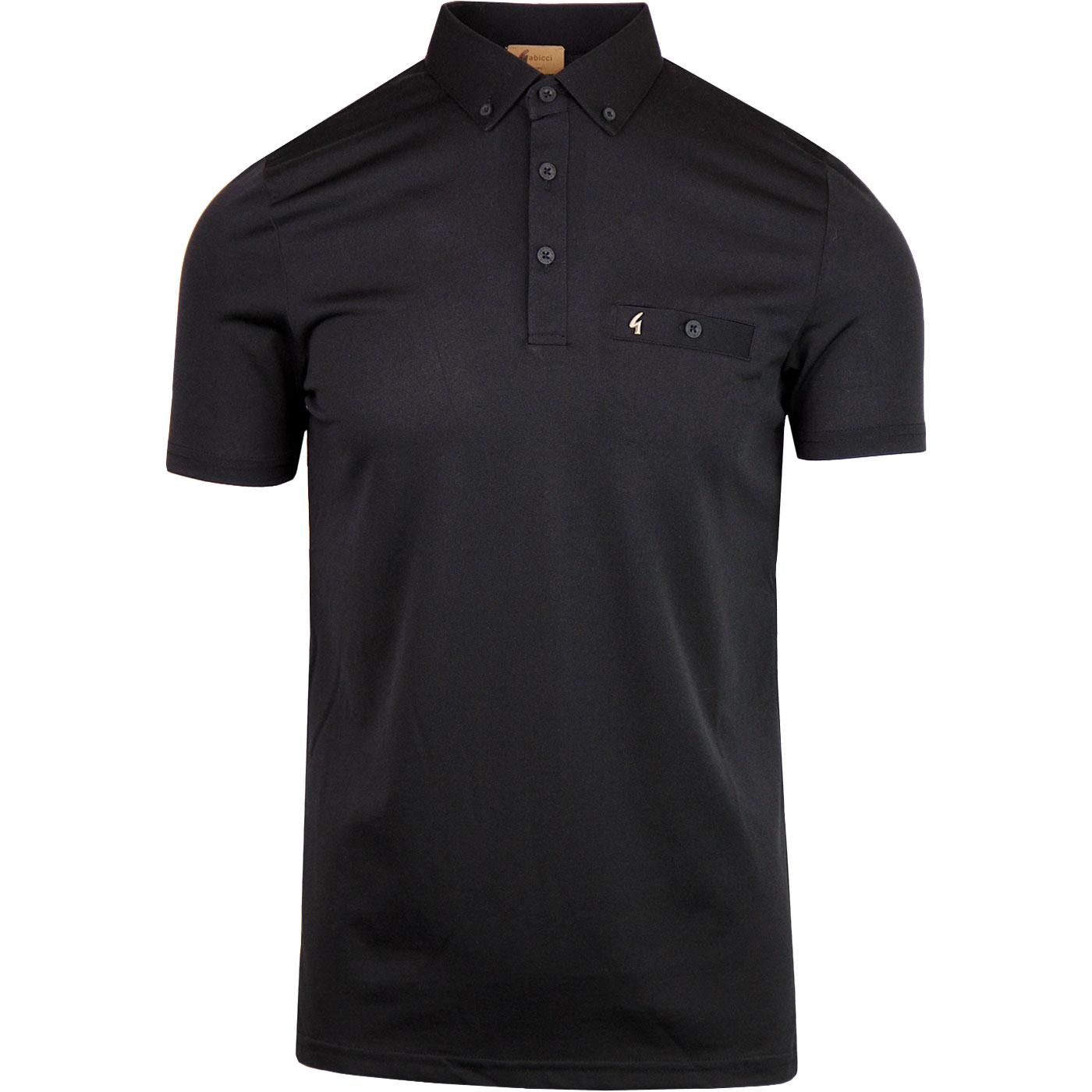 Ladro GABICCI VINTAGE Mod Button Down Polo BLACK
