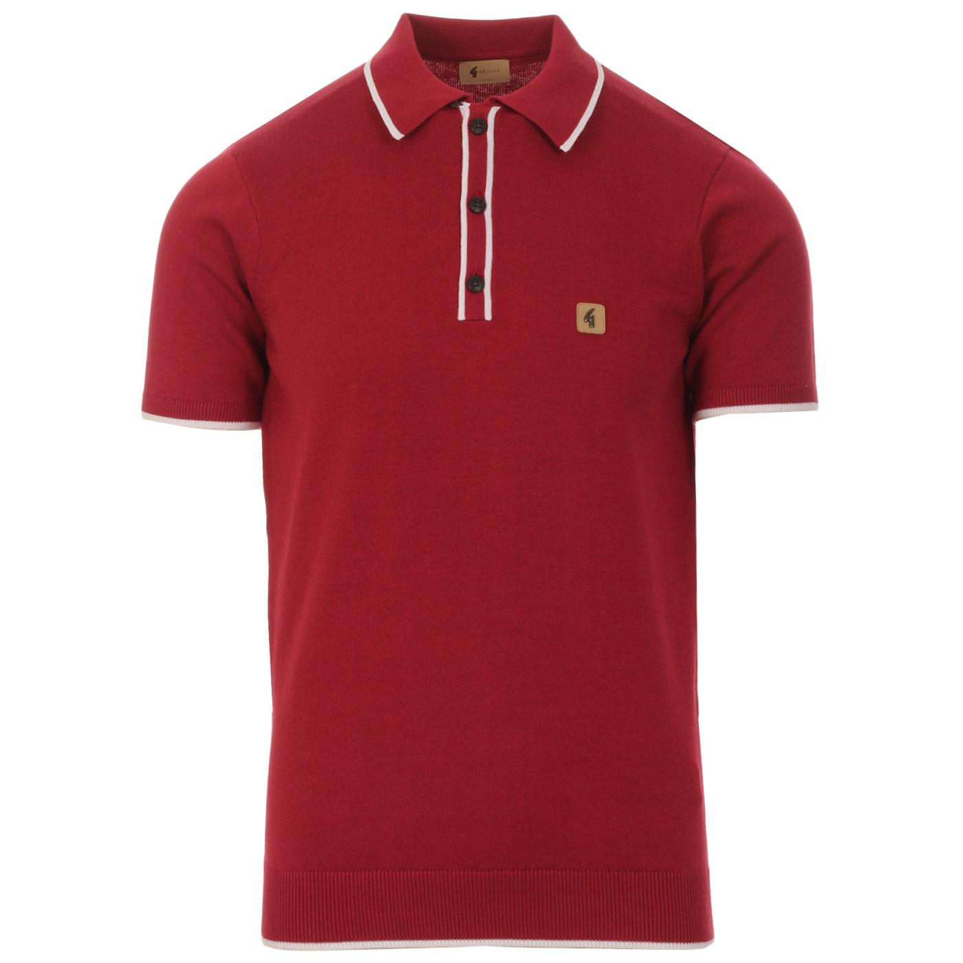 Lineker GABICCI VINTAGE Tipped Knit Polo TAYBERRY
