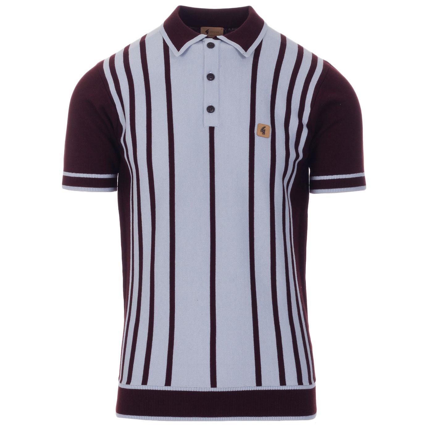 Peck GABICCI VINTAGE 60s Mod Stripe Knit Polo (O)