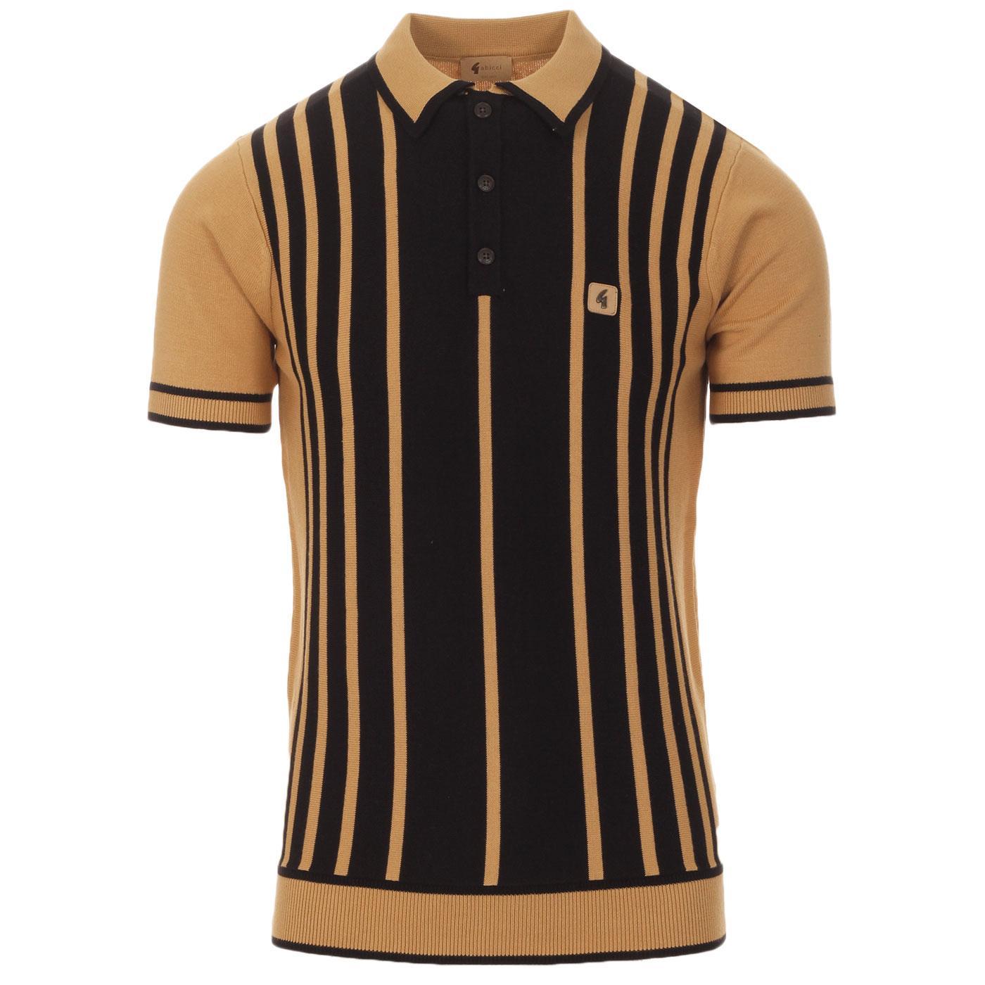 Peck GABICCI VINTAGE 60s Mod Stripe Knit Polo SAND