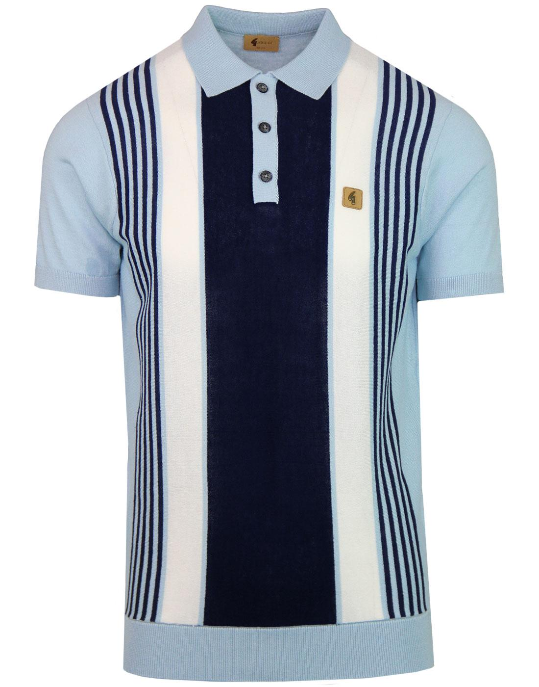 Searle GABICCI VINTAGE Mod Stripe Knit Polo DAWN