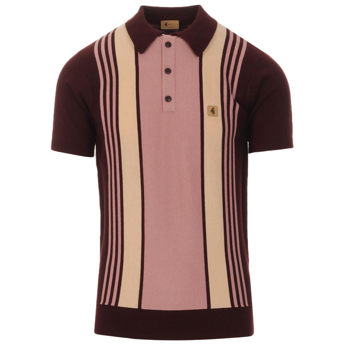 Searle GABICCI VINTAGE Retro Stripe Knit Polo (O)