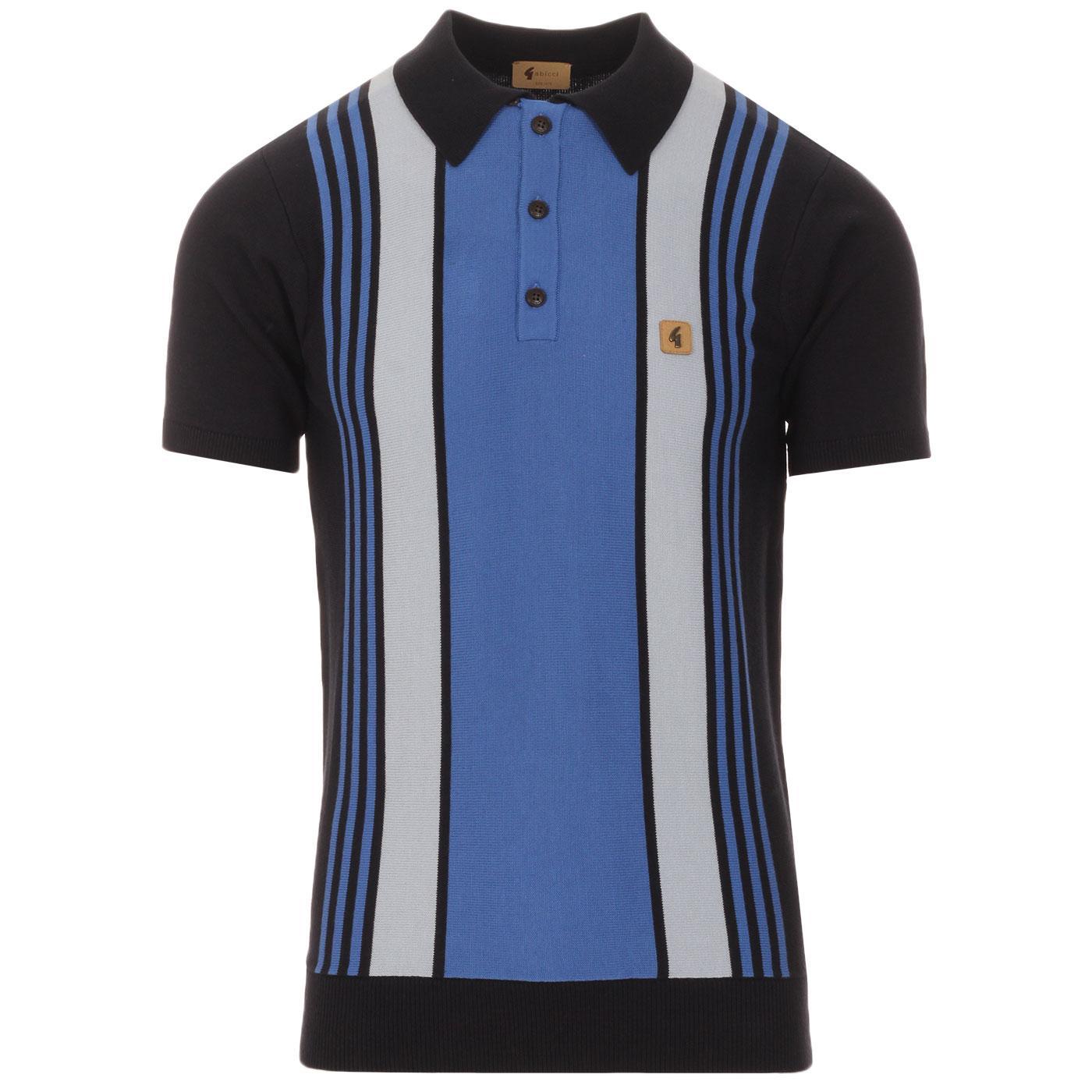 Searle GABICCI VINTAGE Mod Stripe Knit Polo N/C/I