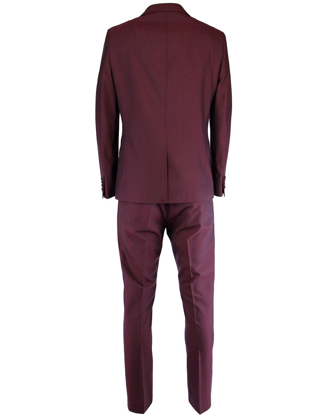 Gabicci Vintage Men S Retro Mod 70s Mod Tonic Suit In Port