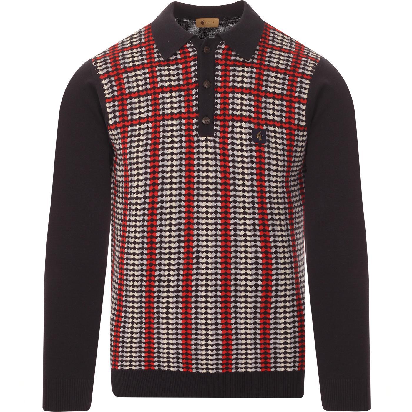 Willis GABICCI VINTAGE Retro 70s Knitted Polo - N