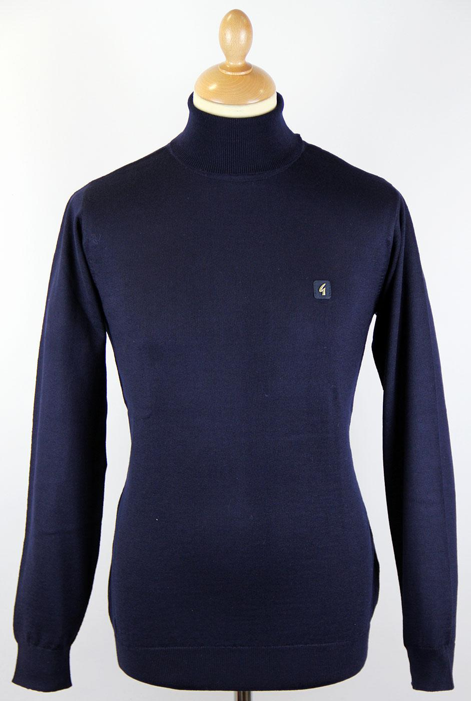 GABICCI VINTAGE Retro 60s Mod Roll Neck Jumper (N)