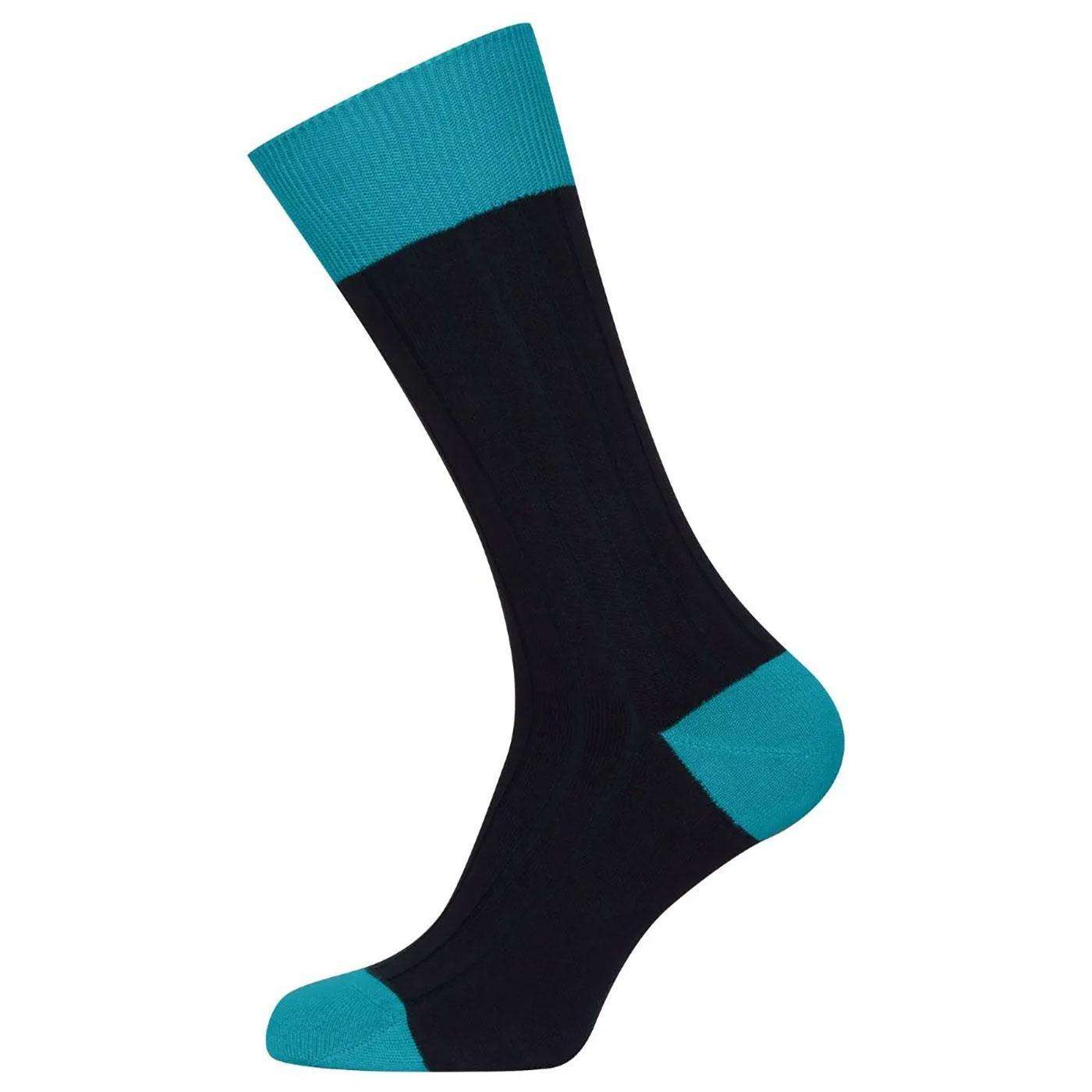 + Gamma JOHN SMEDLEY Ribbed Cotton Blend Socks N/B