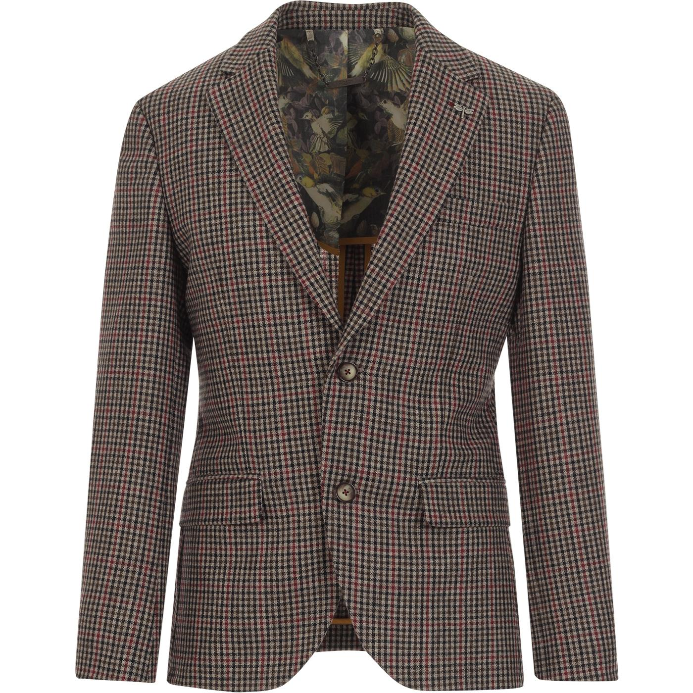 GIBSON LONDON 2 Button Gingham Check Suit Blazer