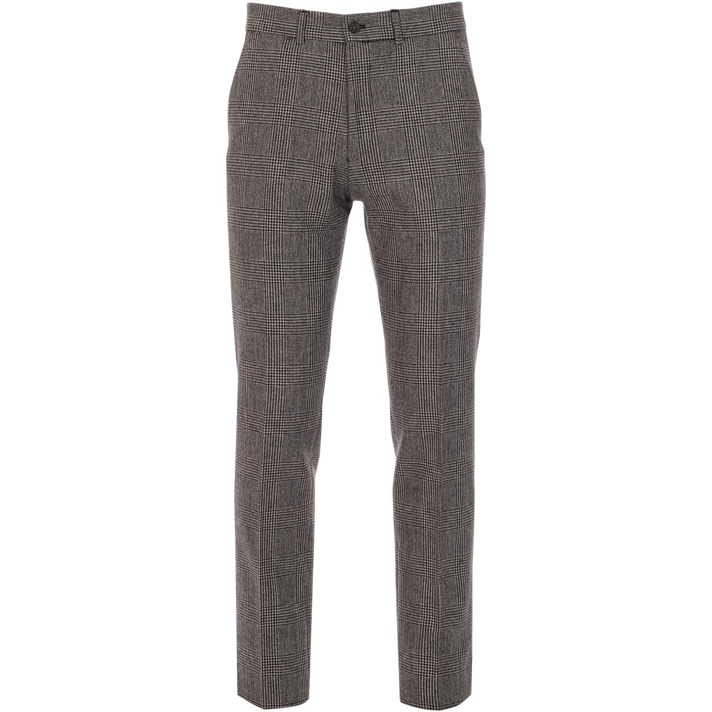 GIBSON LONDON Mod Prince of Wales Check Trousers