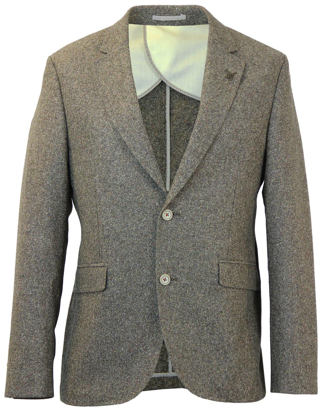 GIBSON LONDON 2 Button Donegal Suit Jacket OLIVE