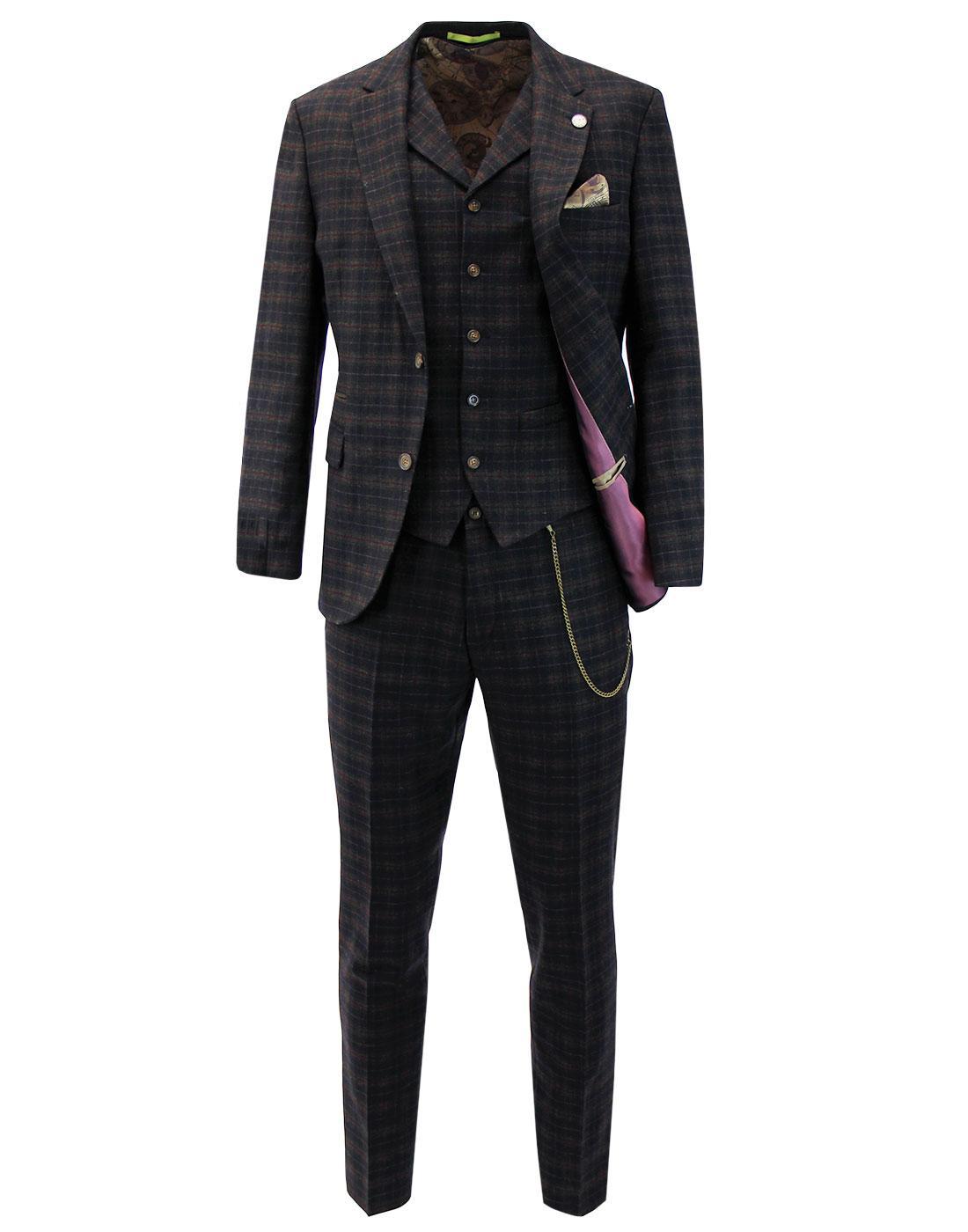 Towergate GIBSON LONDON Tartan 2 or 3 Piece Suit