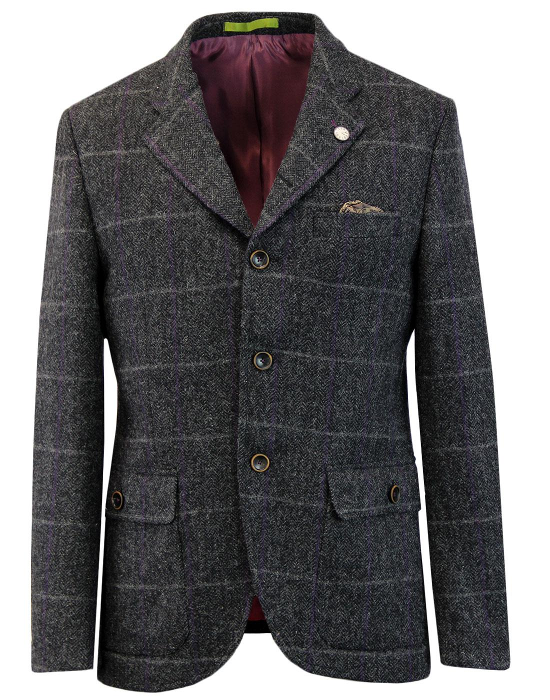Grouse GIBSON LONDON Herringbone Check Blazer (C)