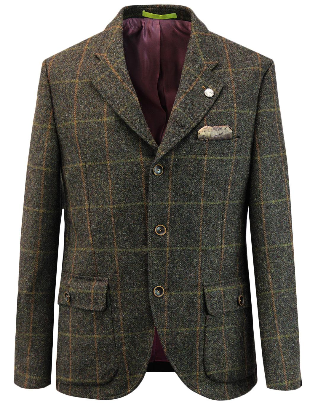 Grouse GIBSON LONDON 1960s Mod Tweed Check Blazer