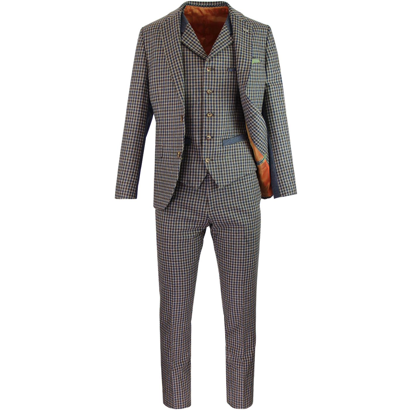 Towergate GIBSON LONDON Mod Gingham Check Suit
