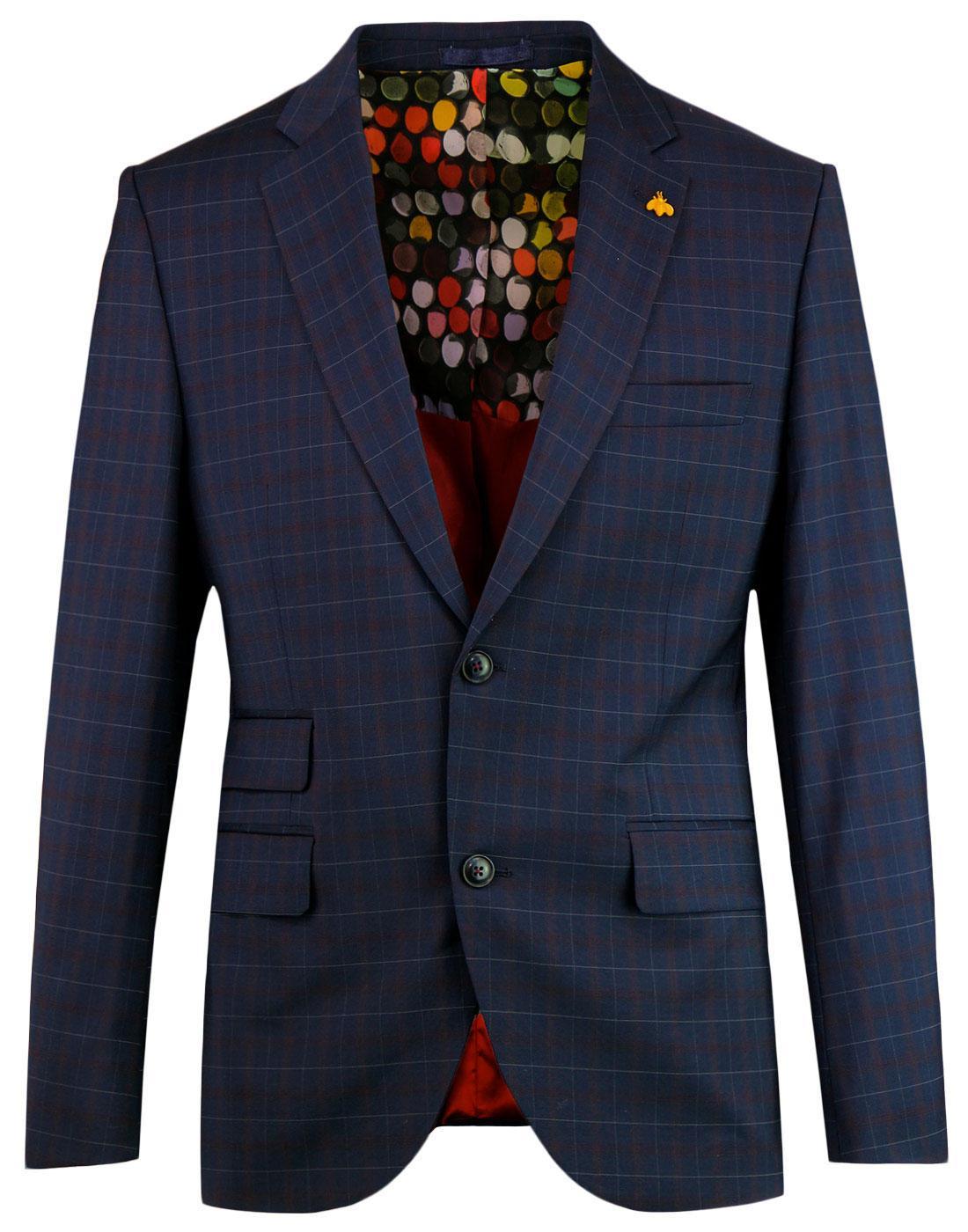 Marriott GIBSON LONDON Tartan Check Suit Jacket