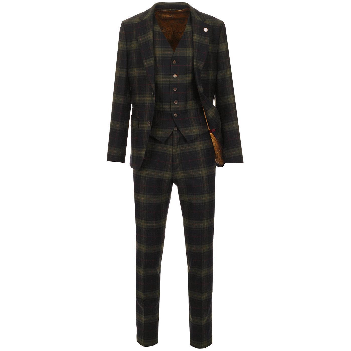 GIBSON LONDON Towergate Retro Mod 70s Tartan Suit