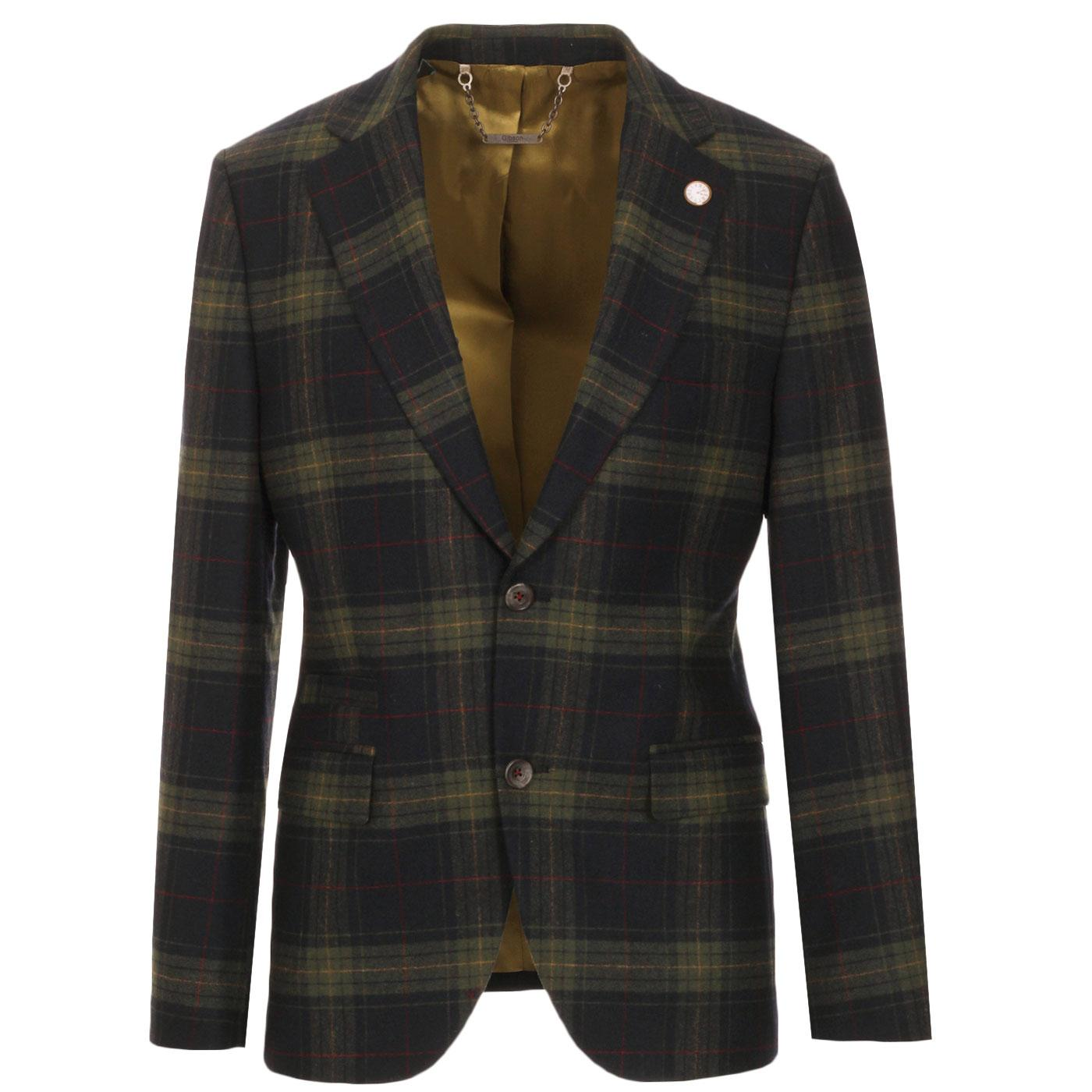 Towergate GIBSON LONDON Mod Tartan 2 Button Blazer