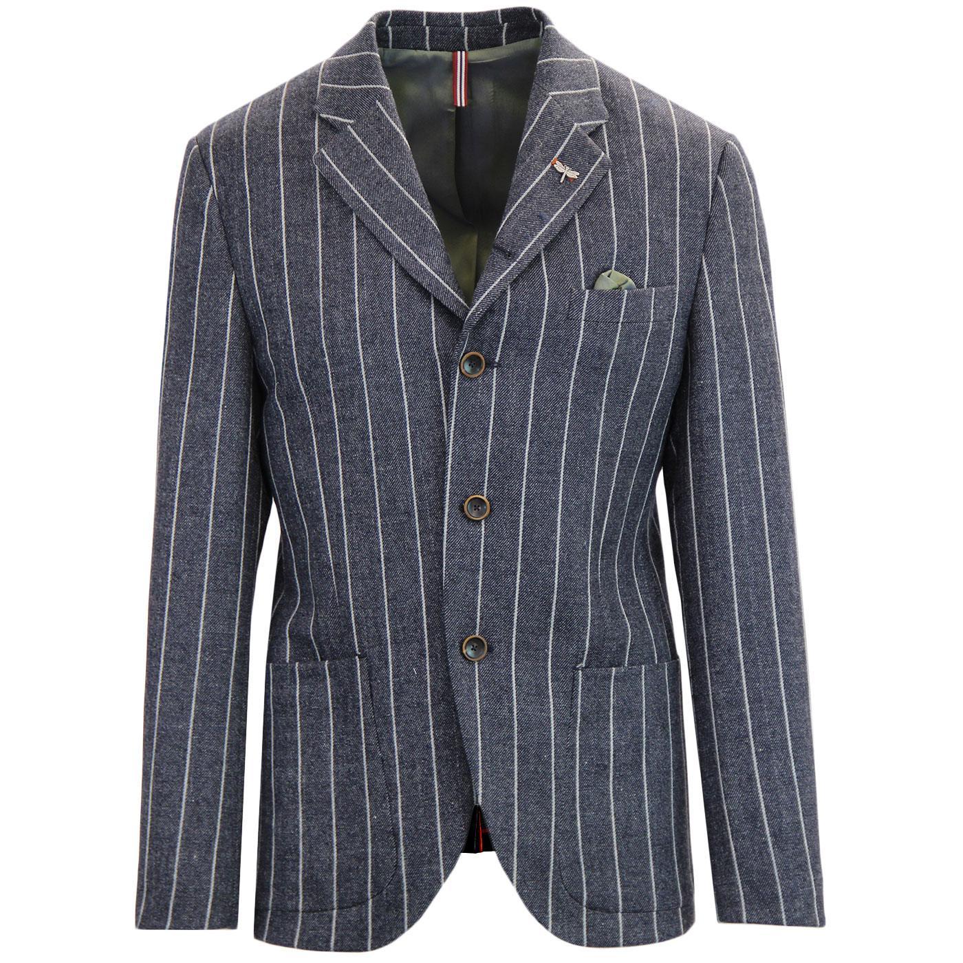 Grouse GIBSON LONDON 60s Mod Wide Stripe Blazer