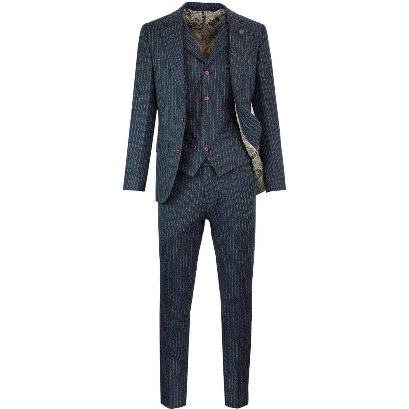 Towergate GIBSON LONDON Retro Mod Pinstripe Suit