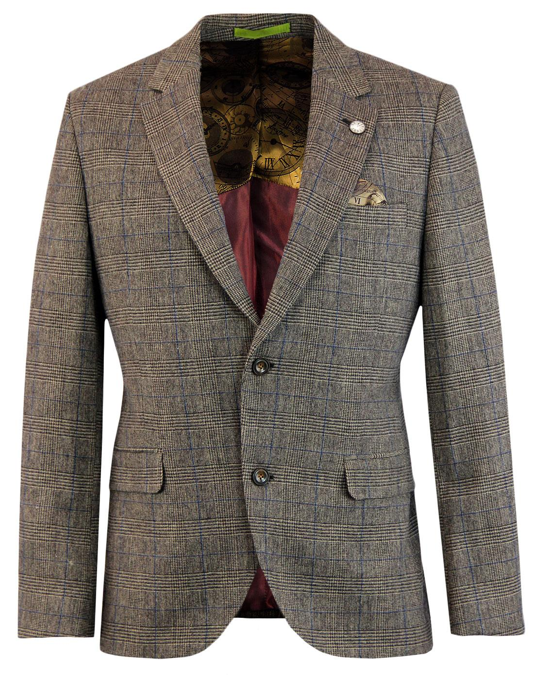 Towergate GIBSON LONDON Mod PoW Check Suit Jacket