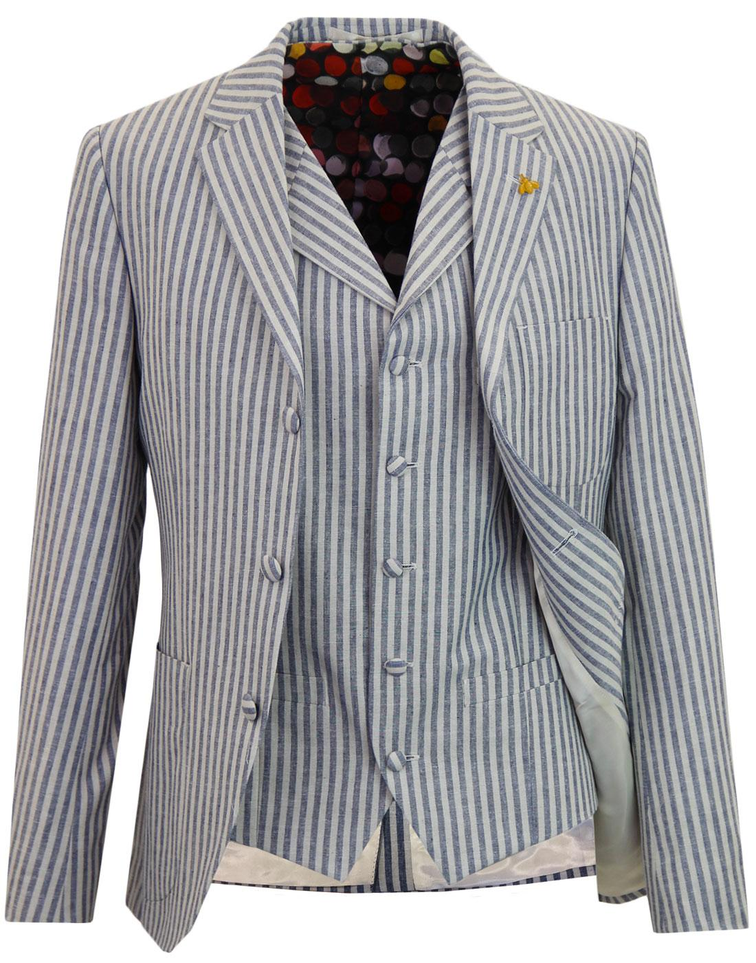 GIBSON LONDON 60s Mod Boating Blazer & Waistcoat