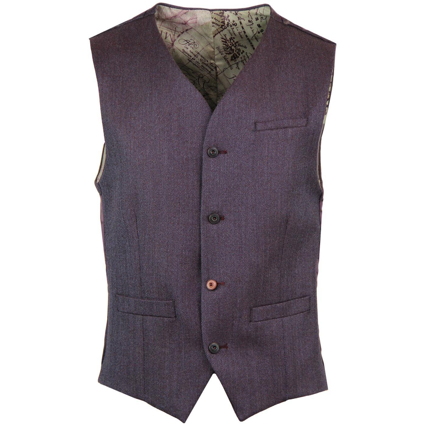 GIBSON LONDON Herringbone Tonic Waistcoat