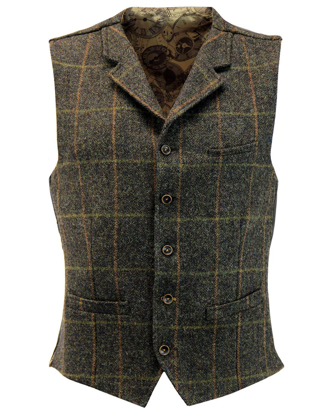 Tyburn GIBSON LONDON Herringbone Check Waistcoat