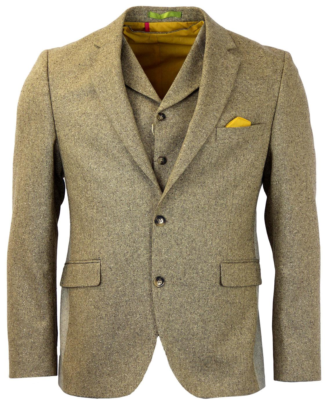 GIBSON LONDON 2 Button Donegal Suit Jacket GOLD