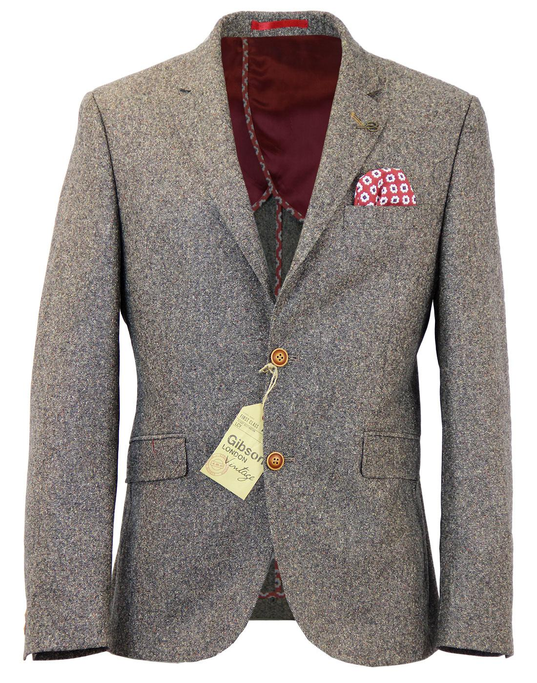 GIBSON LONDON 2 Button Donegal Suit Jacket TAUPE