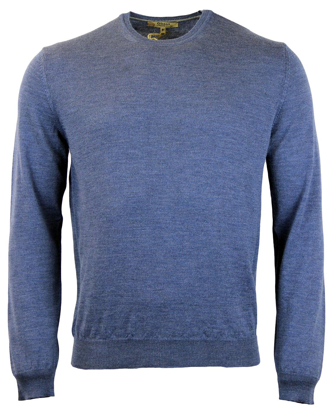 GIBSON LONDON Retro Mod Merino Crew Neck Jumper LB