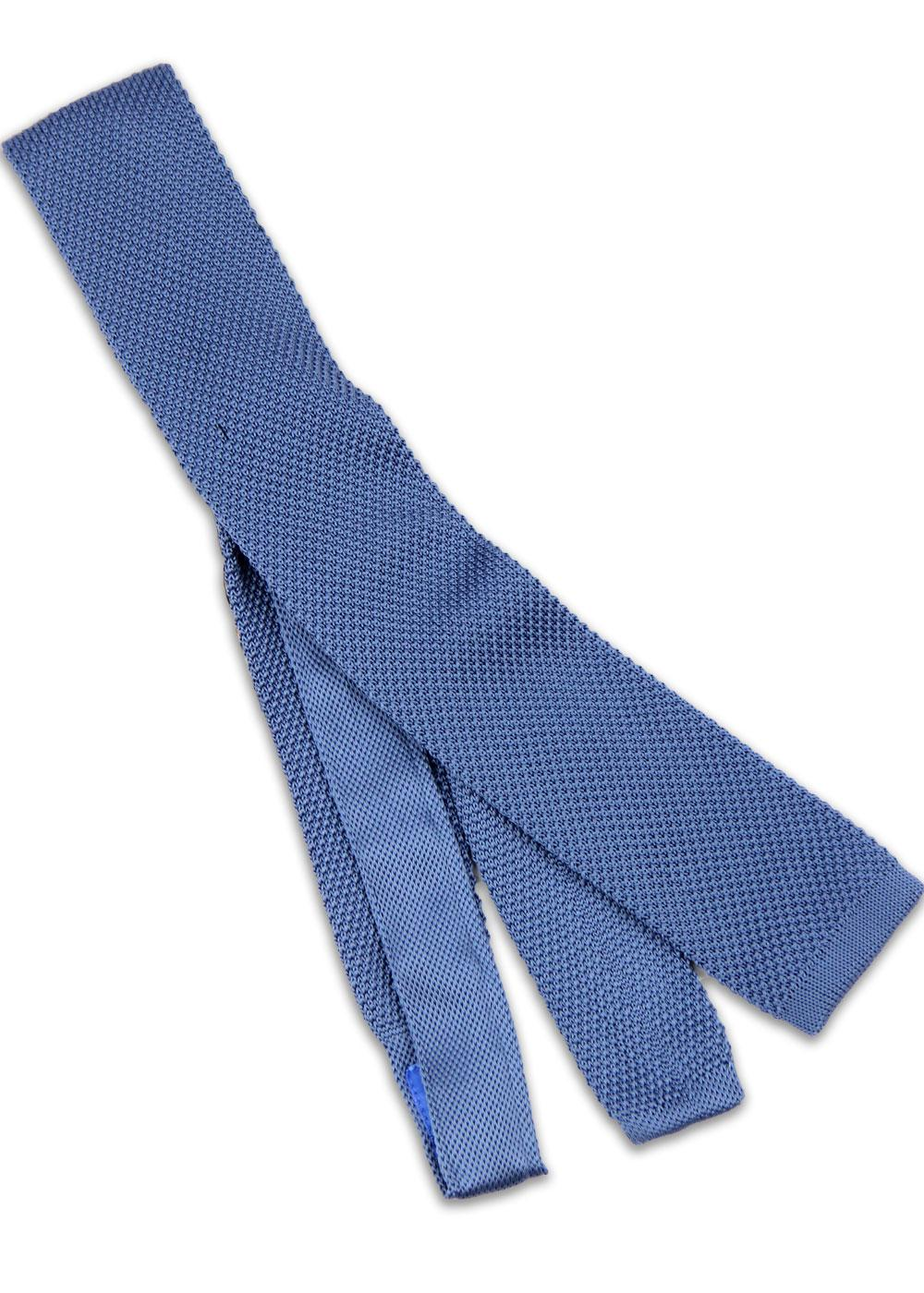 GIBSON LONDON Denim Mod Square End Knitted Tie