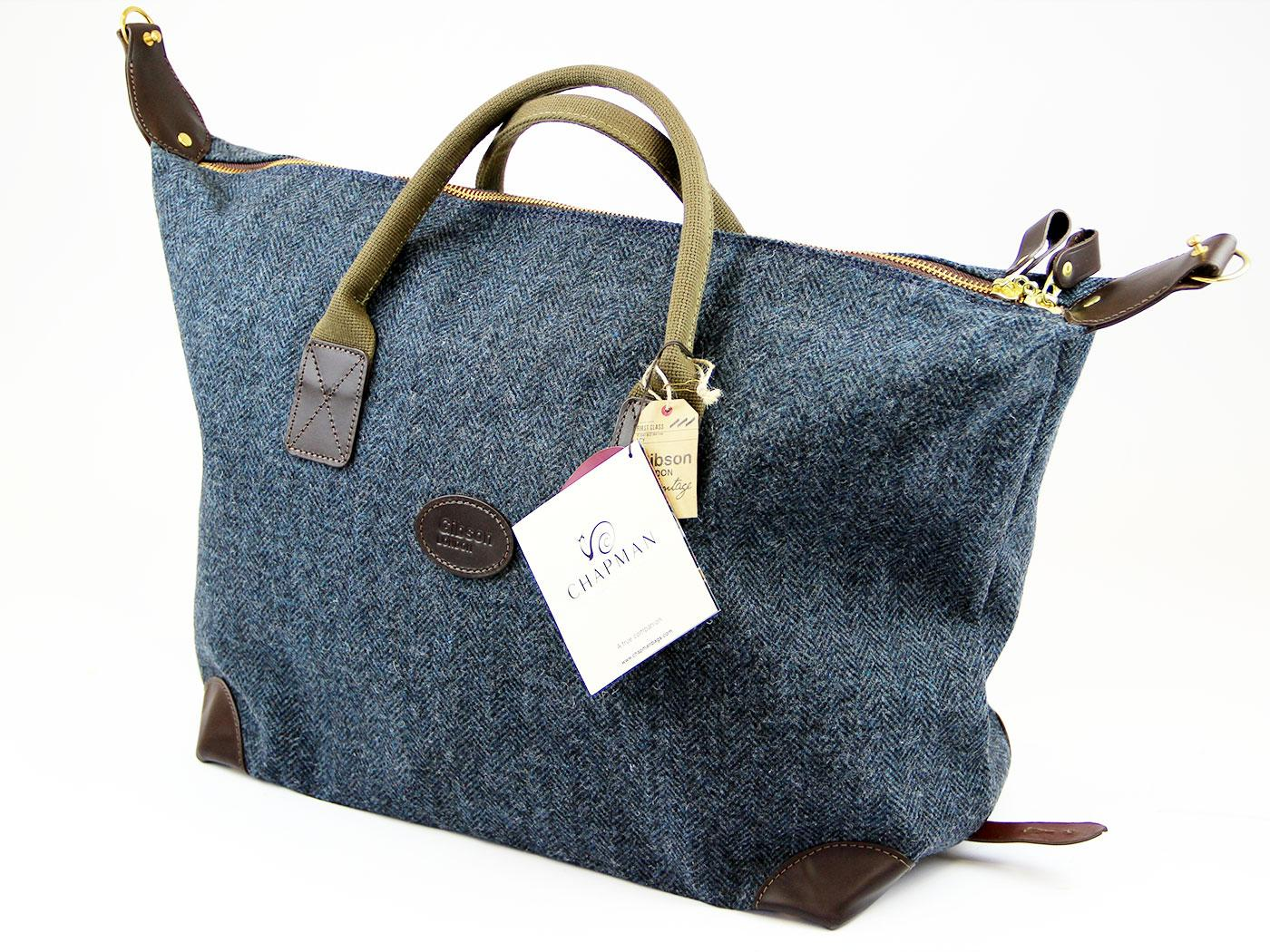 CHAPMAN BAGS for GIBSON LONDON Tweed Holdall Bag