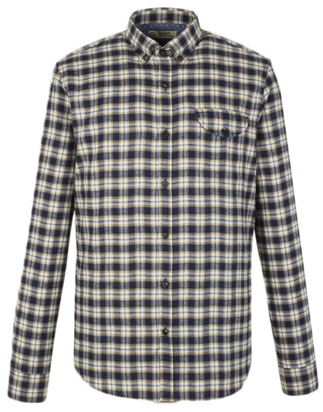 GIBSON LONDON Mod Ivy league BD Check Shirt (M)
