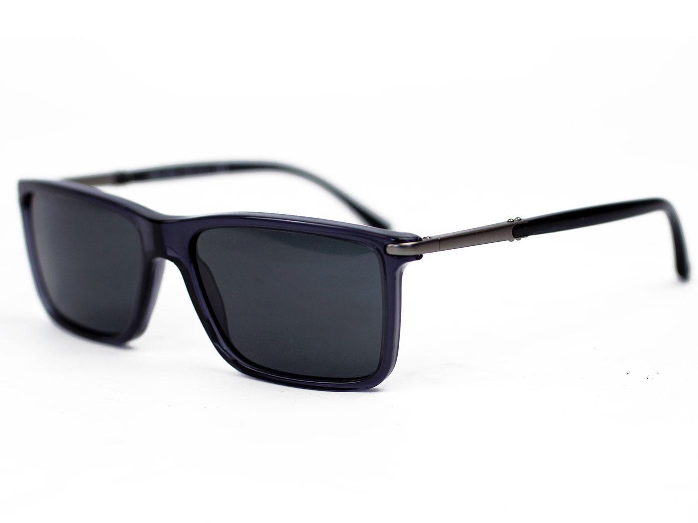 Giorgio Armani Retro Mod Wayfarer Sunglasses in Dark Grey 0AR8010
