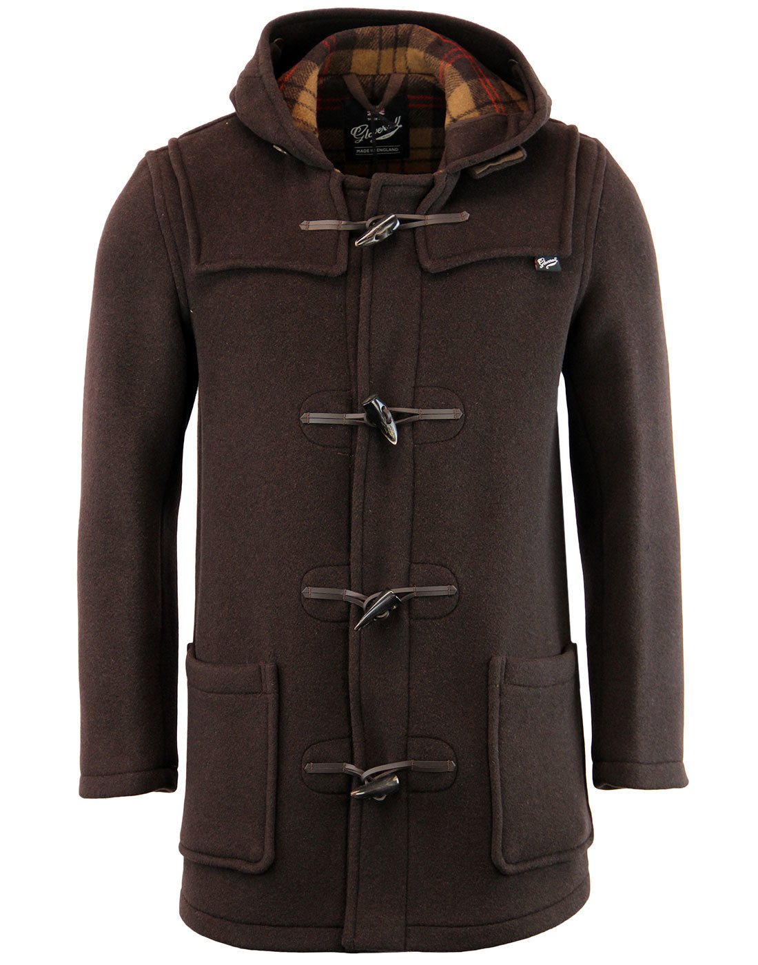 GLOVERALL Retro Checkback Mid Length Duffle Coat