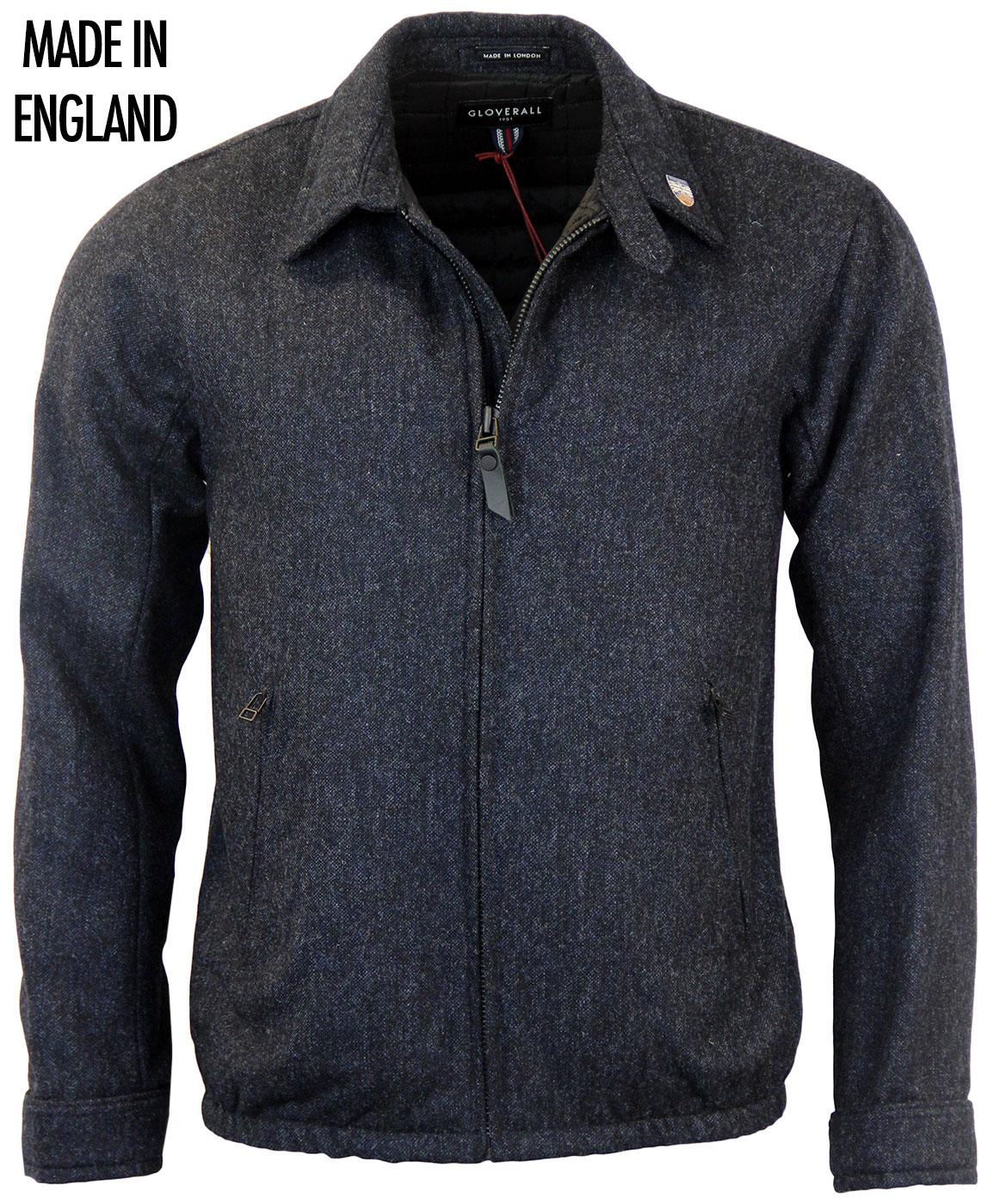 GLOVERALL Made In England Tweed Bomber Jacket