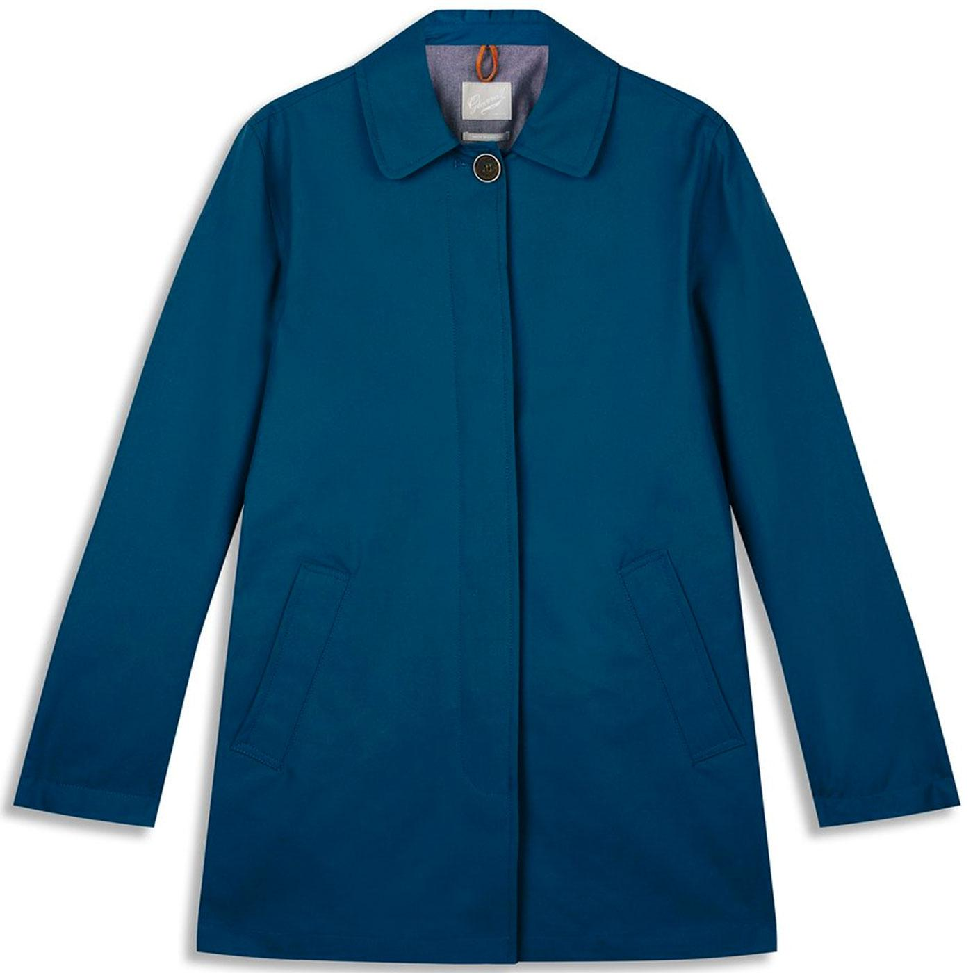 Iris GLOVERALL Women's Made in England Car Coat P