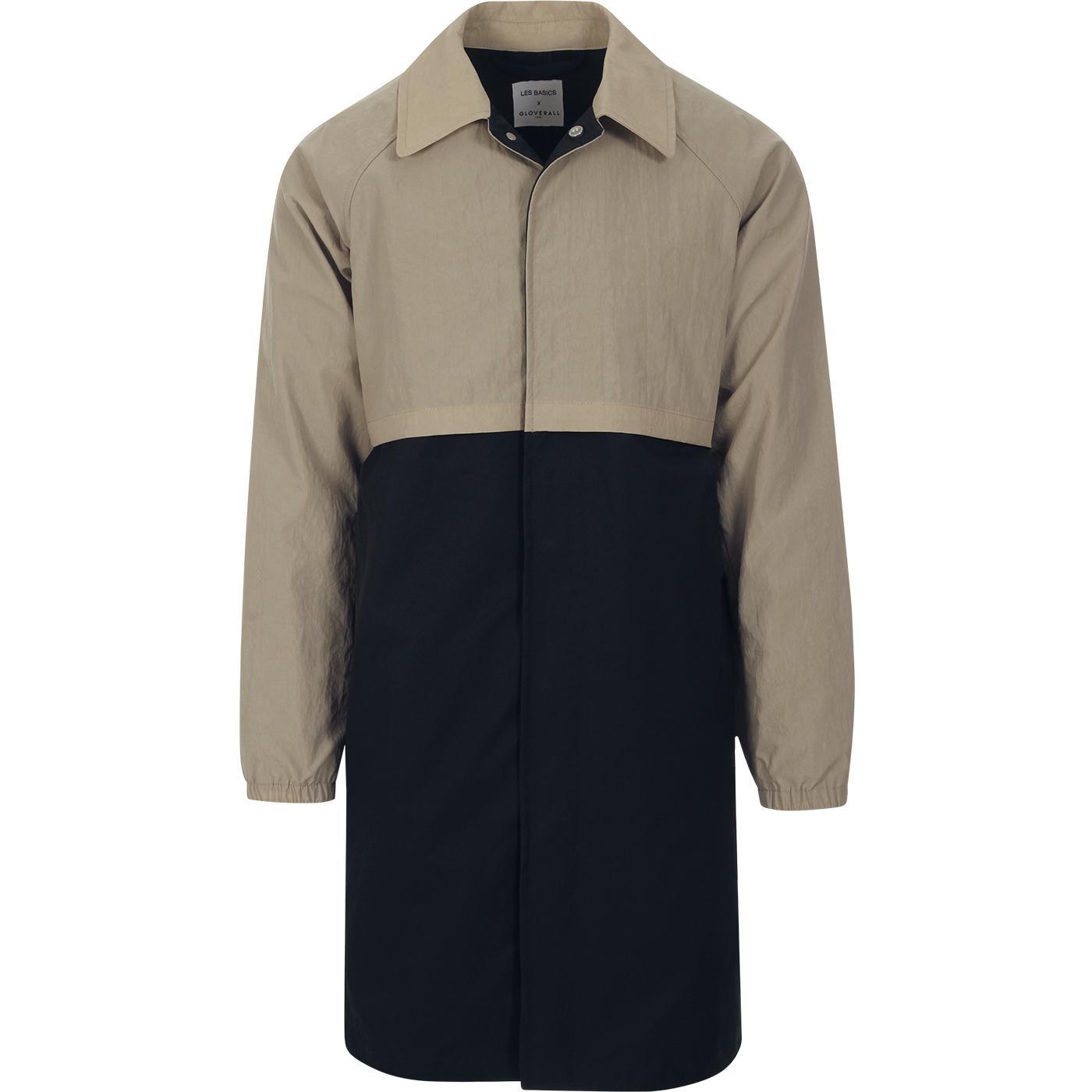 GLOVERALL X LES BASICS Men's Le Car Coat Navy