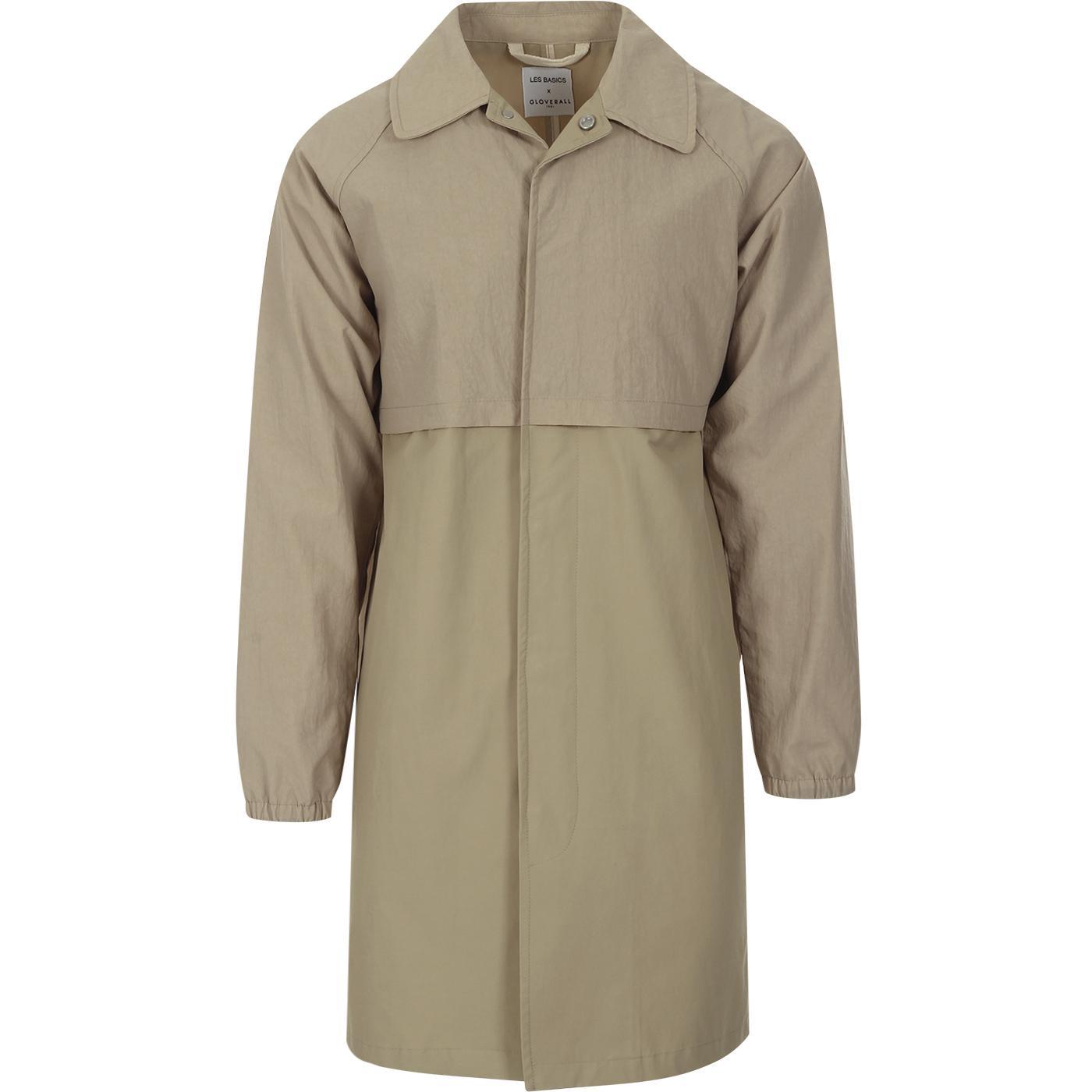 GLOVERALL X LES BASICS Men's Le Car Coat Stone