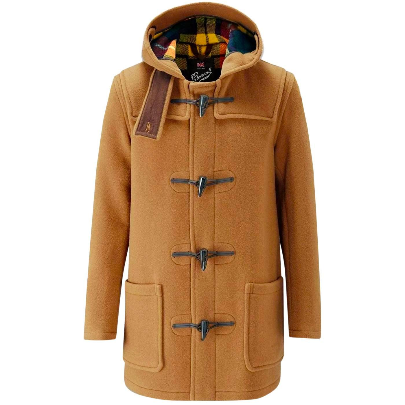 GLOVERALL Made in England Check Back Duffle Coat C