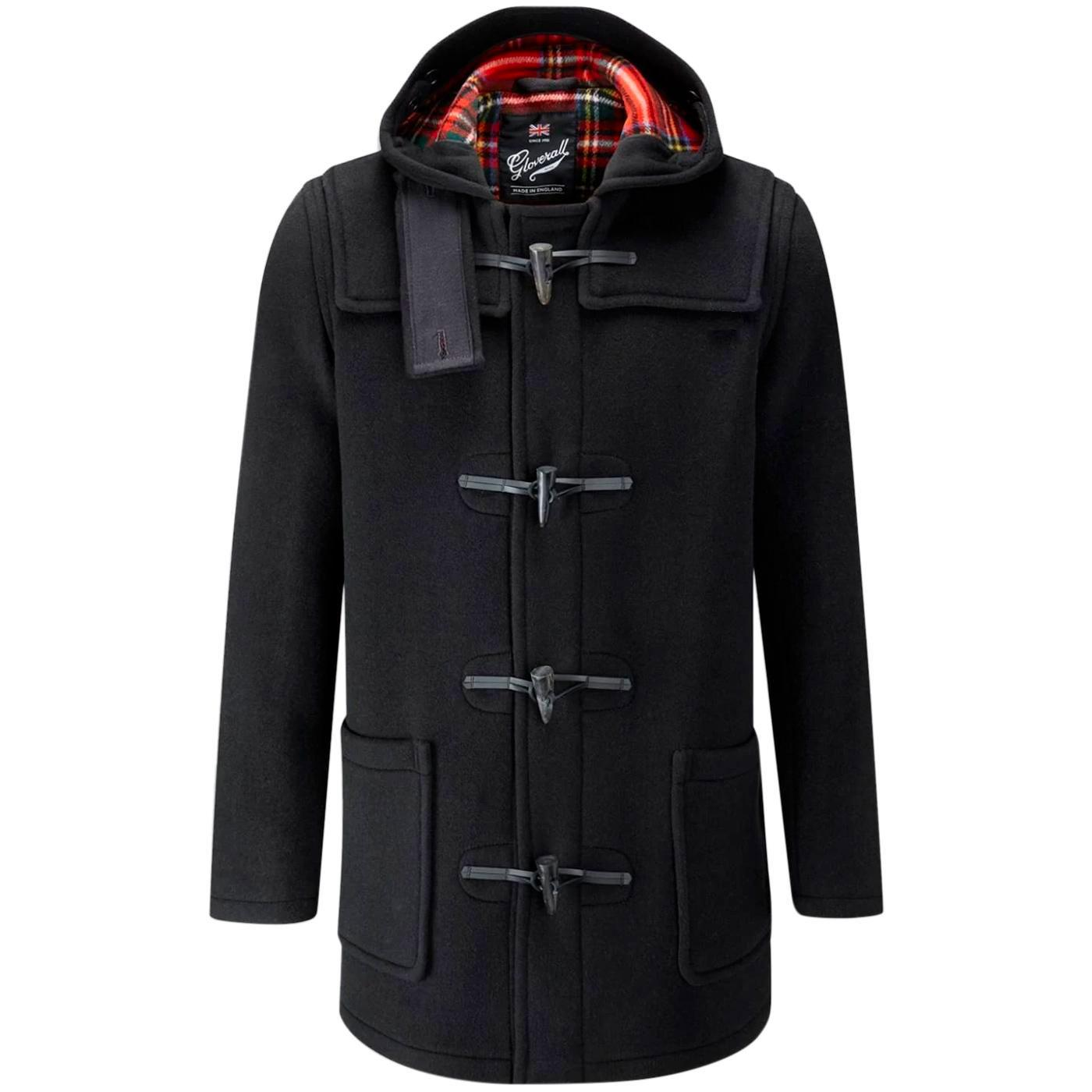 GLOVERALL Made in England Check Back Duffle Coat B